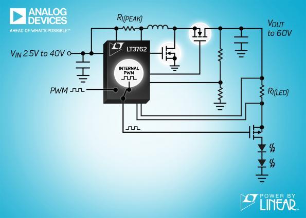 Versatile 60V synchronous boost LED controller