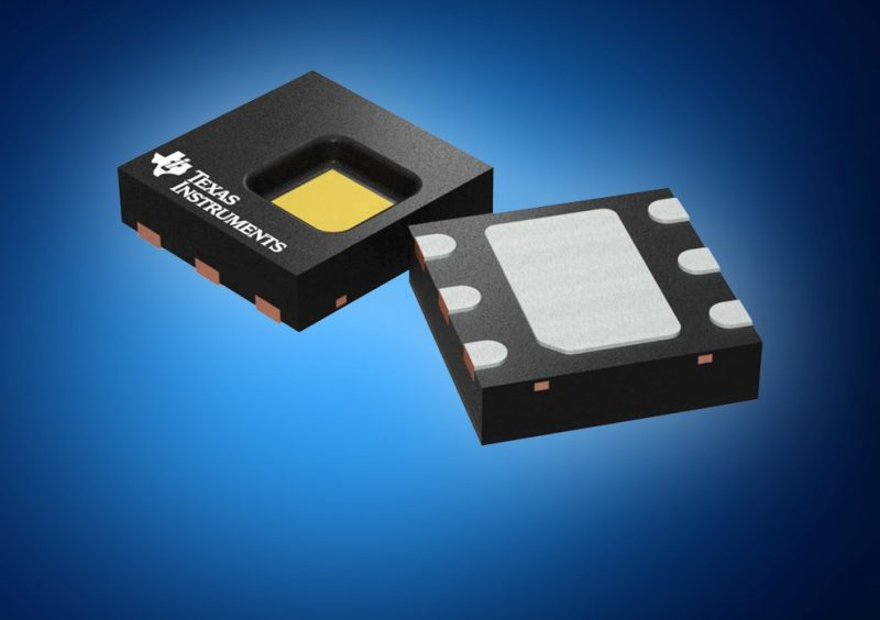 TI's digital humidity and temperature sensor for smart devices