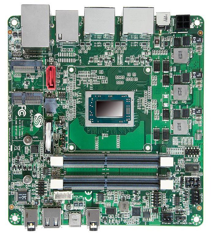 Sapphire's New FS-FP5V SBC Incorporates Ryzen Embedded V1000 SoC
