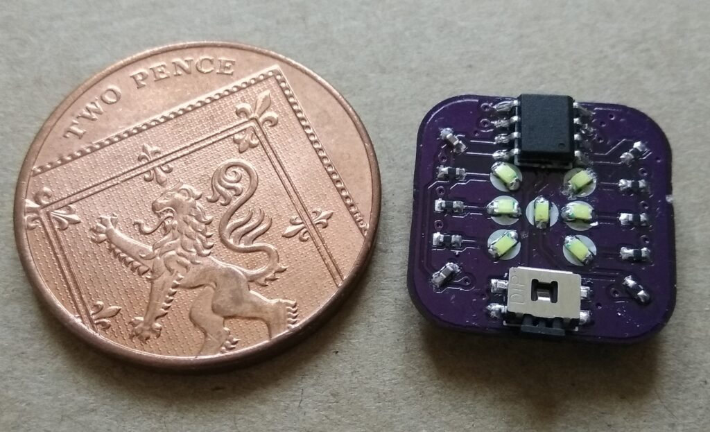 A Tiny Electronic Dice based on ATtiny25V