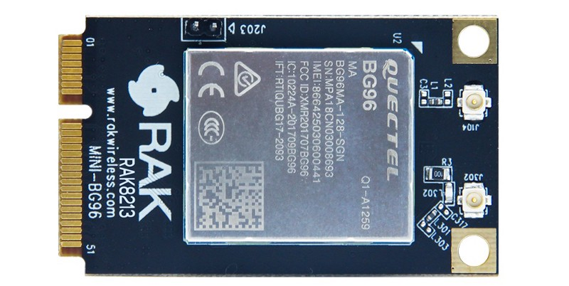 RAK8213 – The New Mini-PCIe Card For NB-IoT and LTE Cat M1