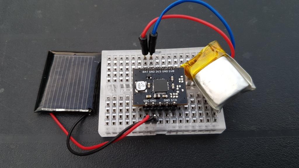 Solar harvesting into Li-ion battery