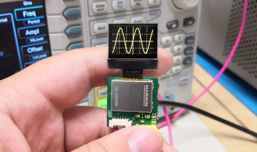 1 Square Inch 20MSPS Oscilloscope