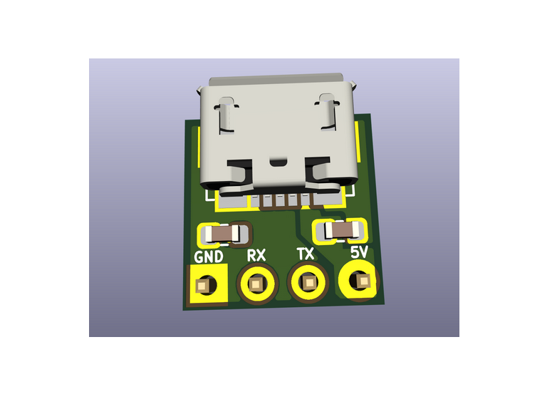 Tiny USB to UART Converter using CH330