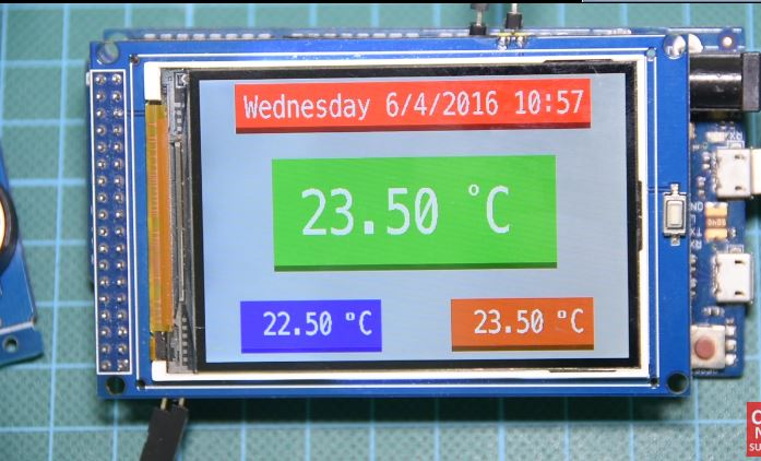Arduino Real Time Clock and temperature Monitor using the DS3231 RTC and 3.2″ Color TFT display
