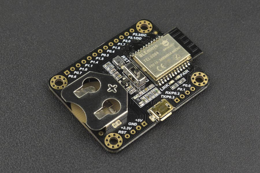 BLE Micro is a Tiny Bluetooth 4.0 Development Board