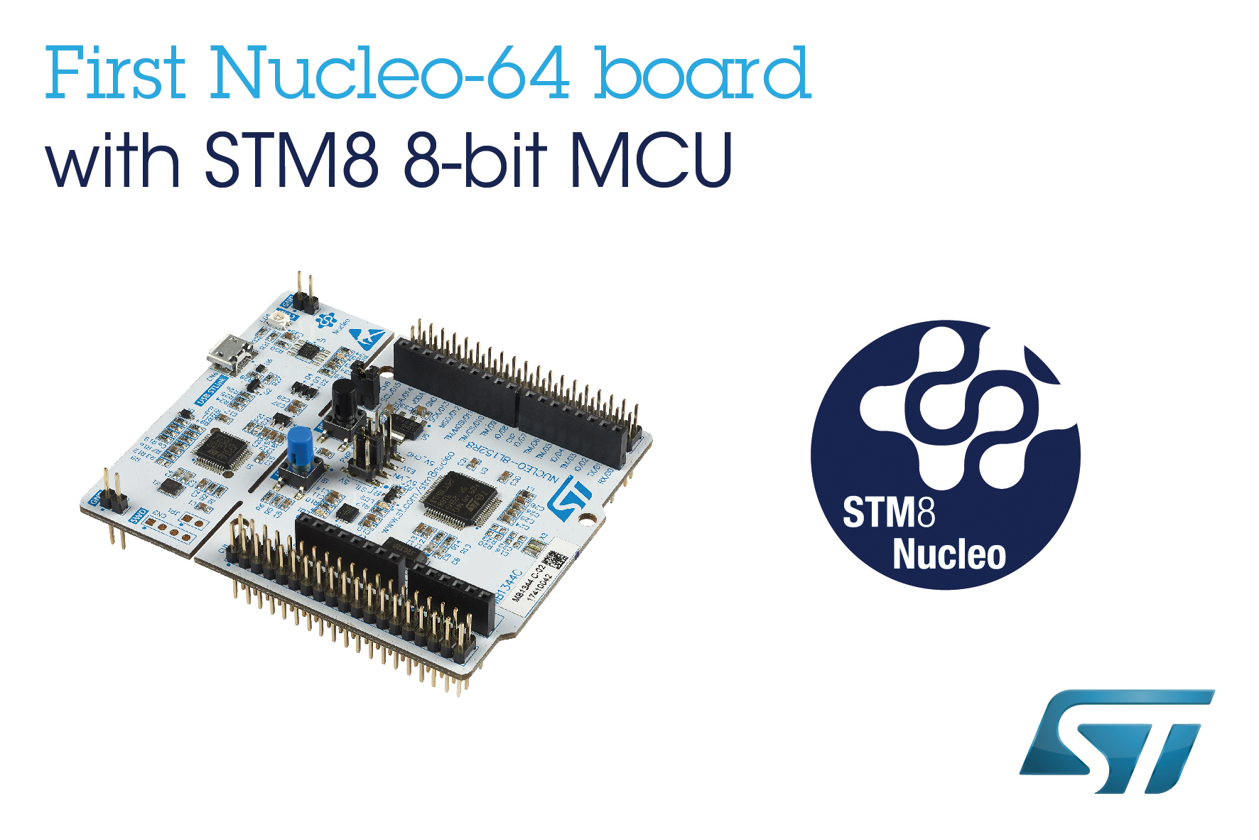 Latest Nucleo boards access open source 8-bit MCU I/Os