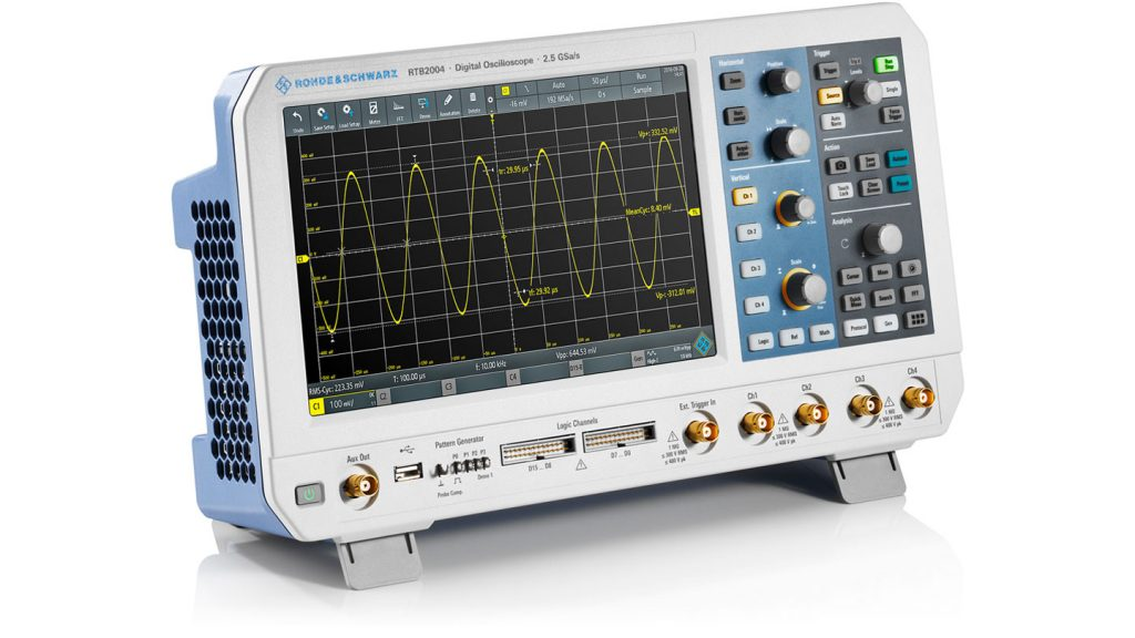 Rohde & Schwarz RTB2000 oscilloscope series start at €1.250