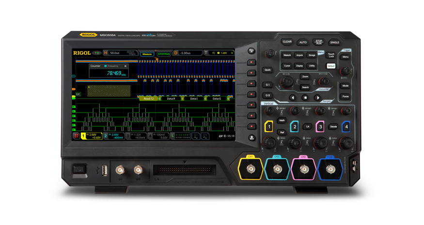 MSO5000 is ready with 2 or 4 analog and 16 digital input channels