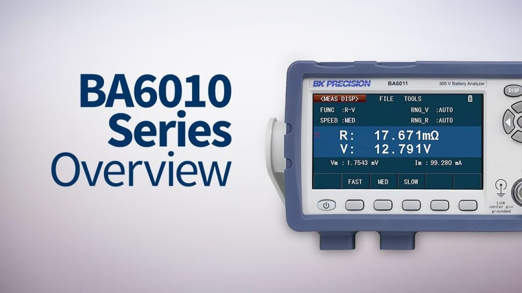 BKprecision's BA6010 Series Battery Analyzers – Model BA6010
