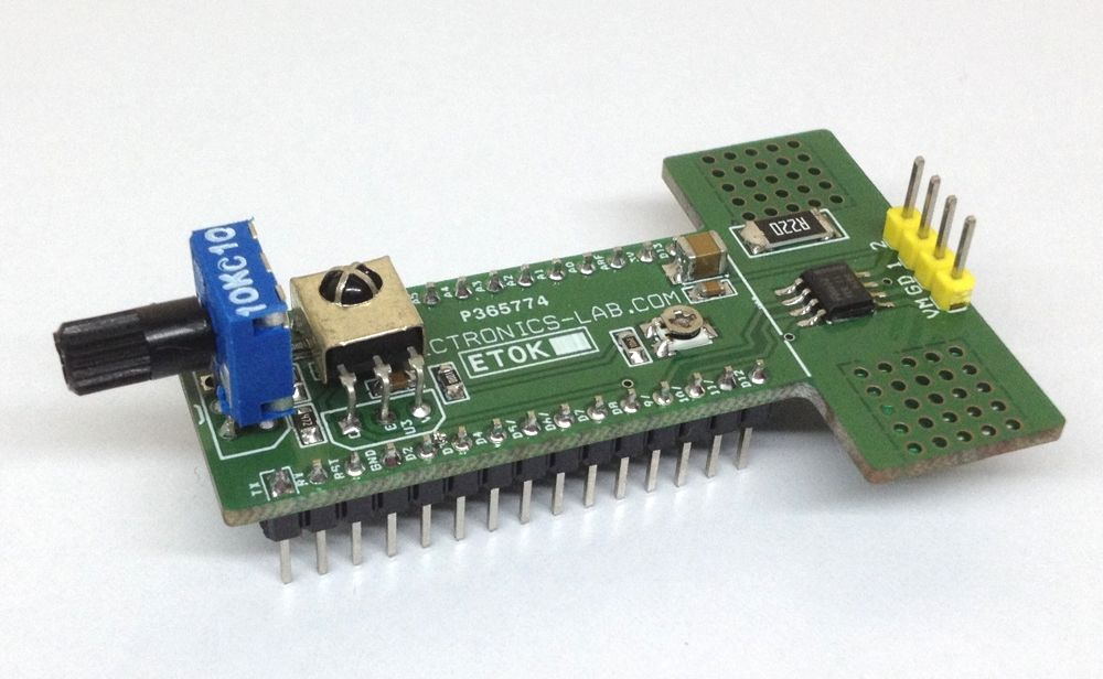 3.6A Bidirectional DC Motor Driver Shield for Arduino Nano