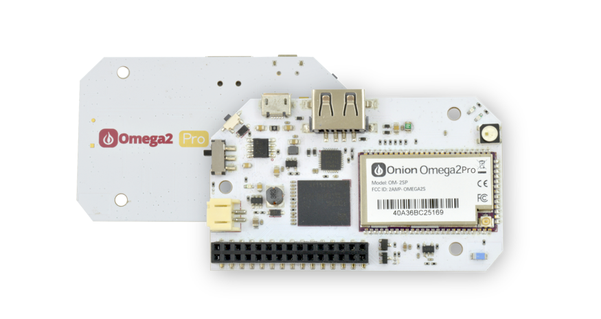 Onion Omega2 Pro – A tiny, open source Linux dev board