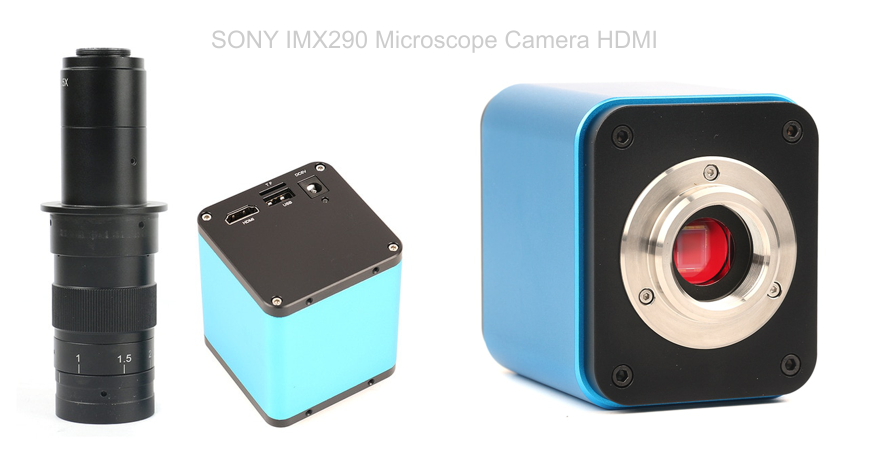 SONY IMX290 HDMI Microscope Camera has 180x magnification, excellent image quality and is Autofocus