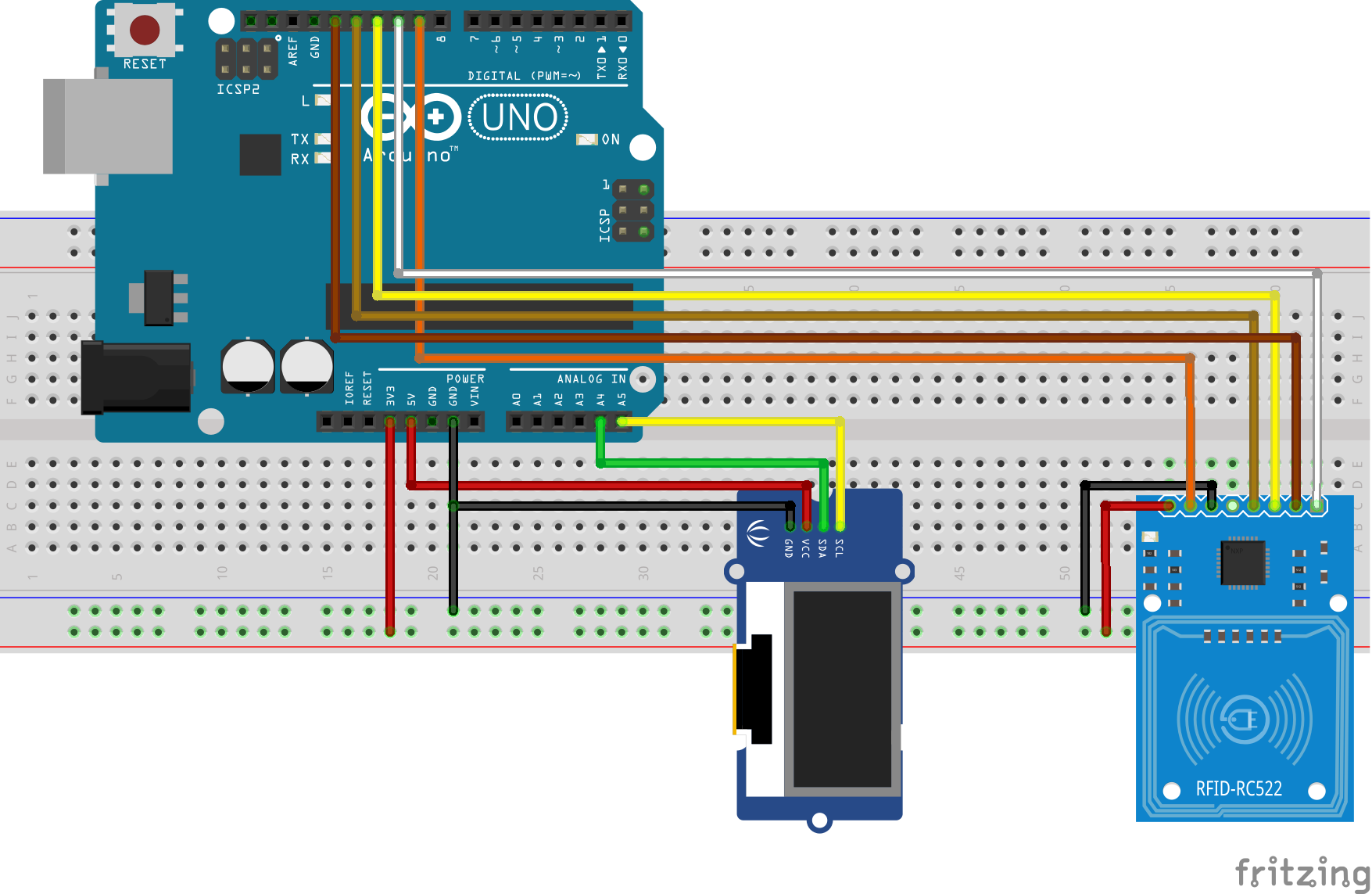 Use RC522 RFID module with Arduino and an OLED display