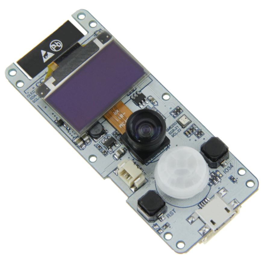 TTGO T-Camera is an ESP32 CAM Board With OLED and AI Capabilities.