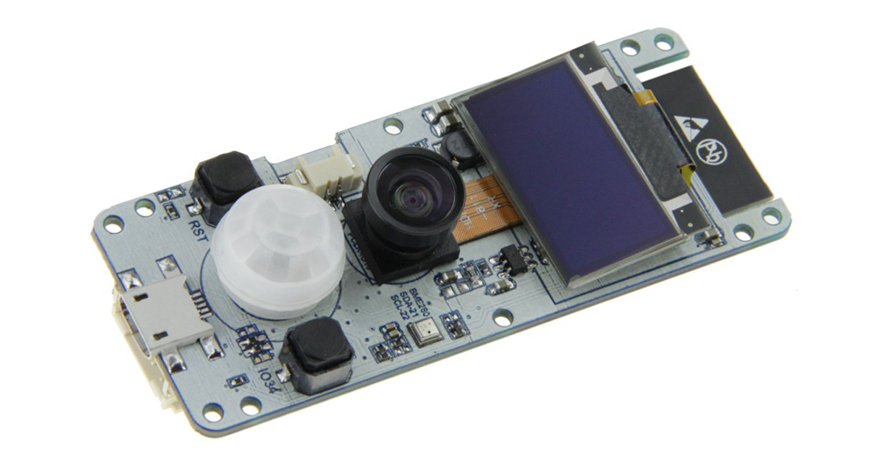 TTGO T-Camera is an ESP32 CAM Board With OLED and AI Capabilities