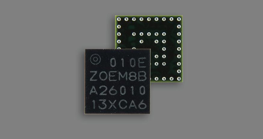 u-blox ZOE-M8B tiny GNSS SiP module