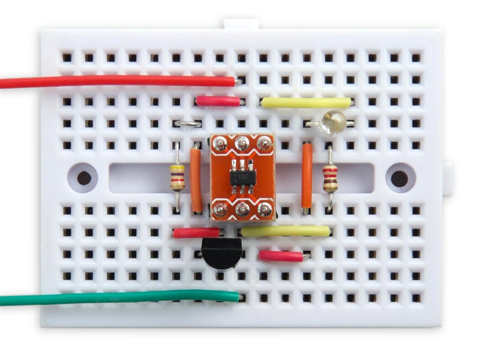 ATtiny10 Thermometer using DS18B20