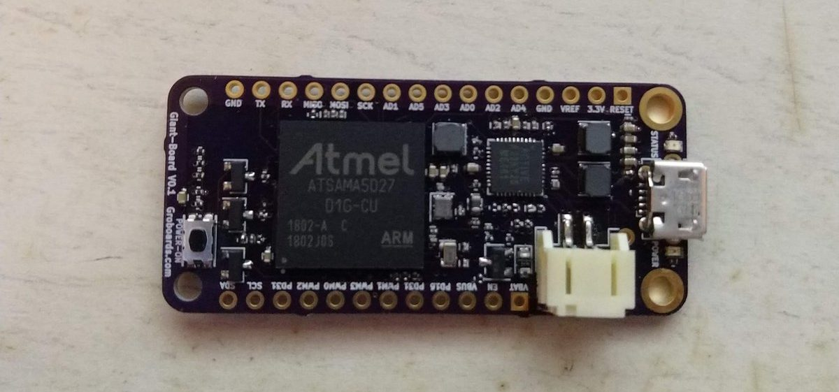 "Groboard ""Giant Board"" runs Linux and follows Adafruit Feather form-factor"