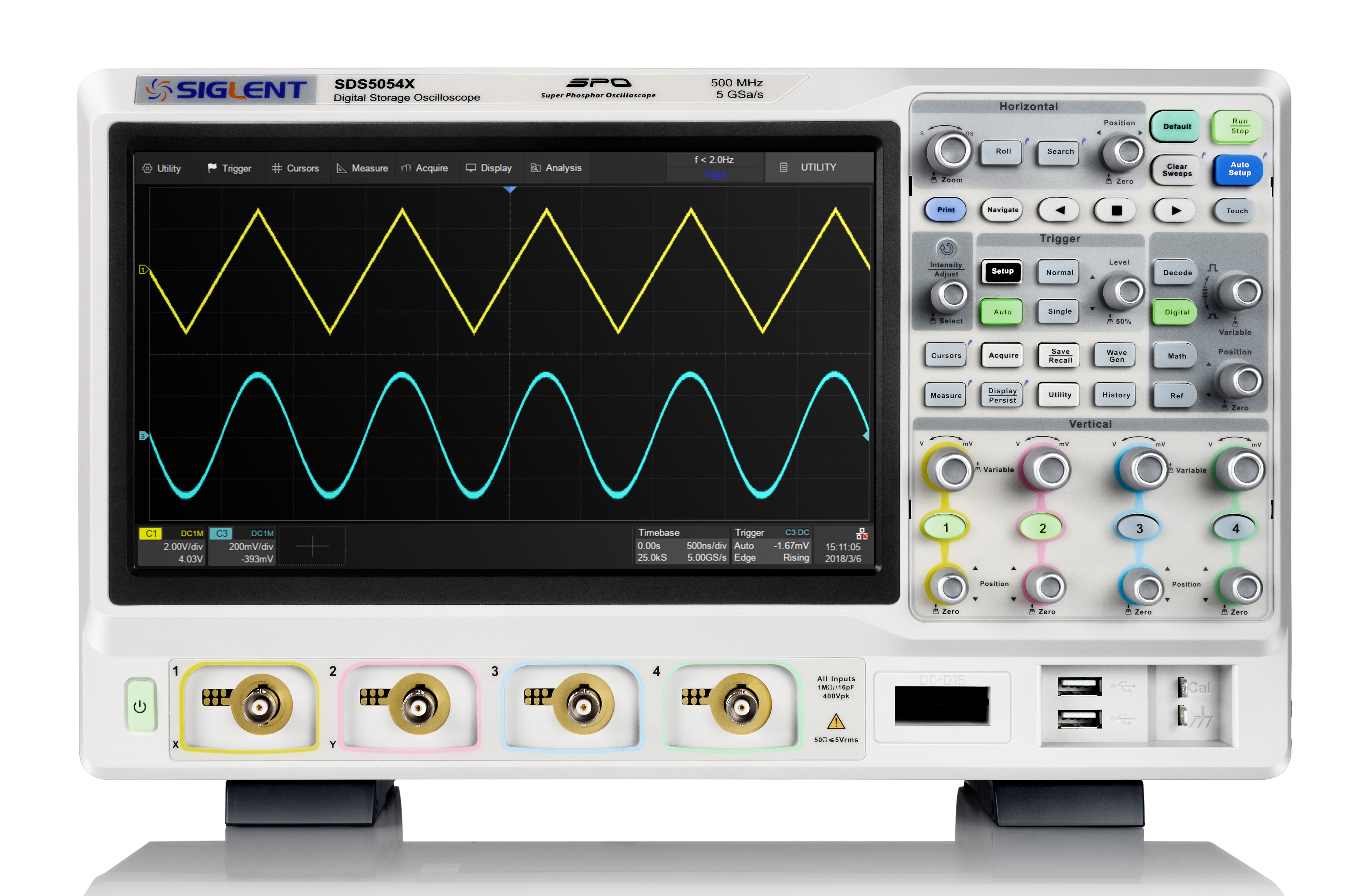 Economical Siglent SDS5000X 350MHz-1GHz Oscilloscopes