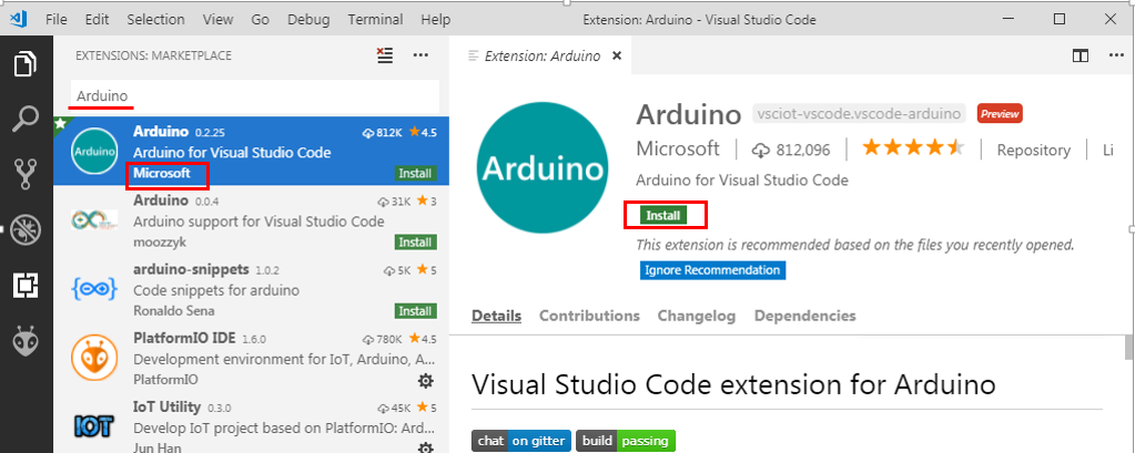 Programming Arduino on Visual Studio Code Editor with