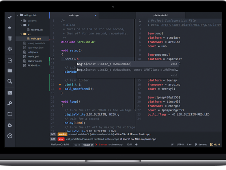 Programming Arduino on Visual Studio Code Editor with Platform.io or Arduino extension
