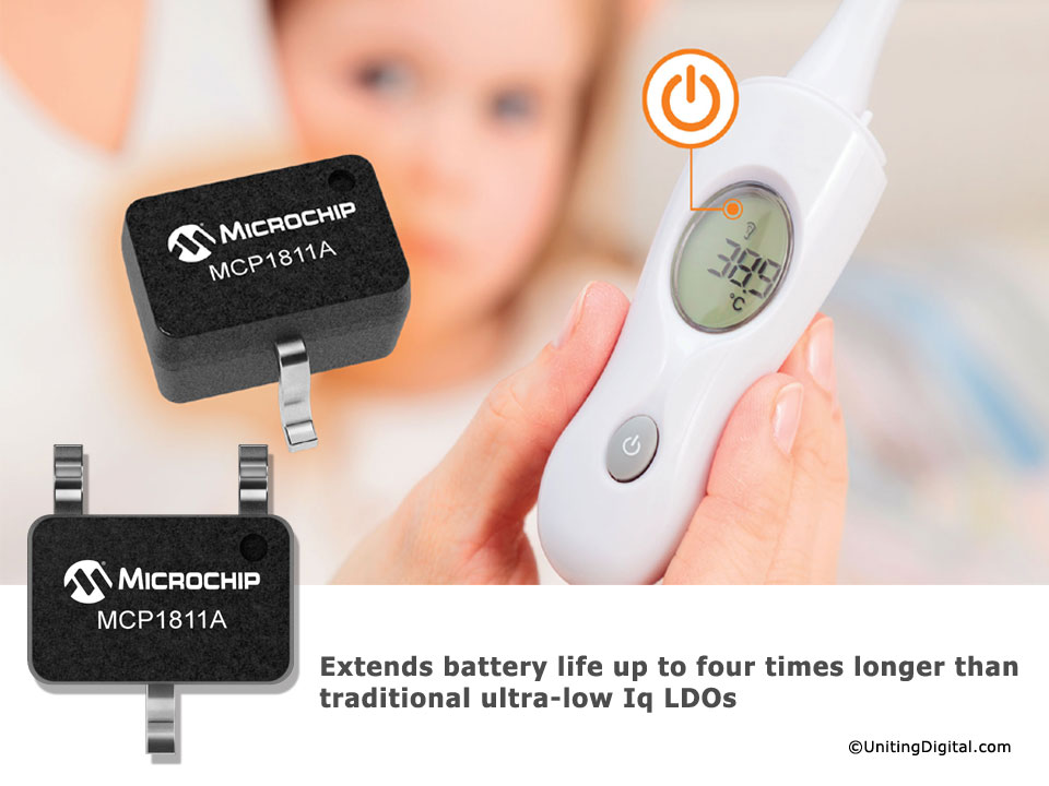 Ultra-low quiescent LDO extends battery life for sensors and portable designs