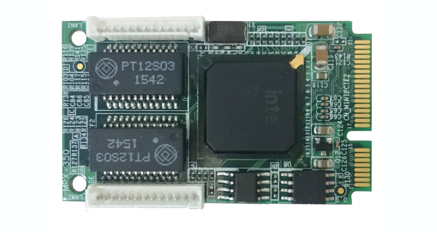 MPX-350 – Mini-PCI Express Dual Gigabit Ethernet Module