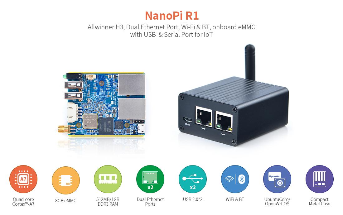 NanoPi R1 – FriendlyElec's new SBC with Allwinner H3