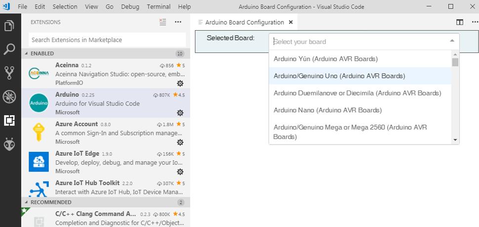 Select Board Type