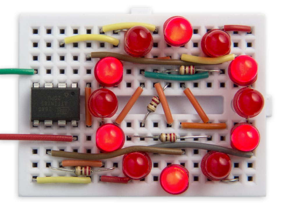 Twelve PWM outputs from an ATtiny85