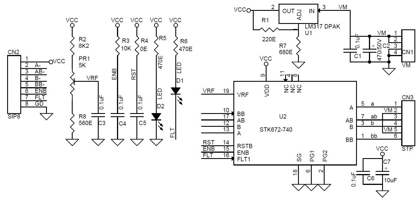 Unipolar Stepper Motor Controller Circuit Diagrams Schematics