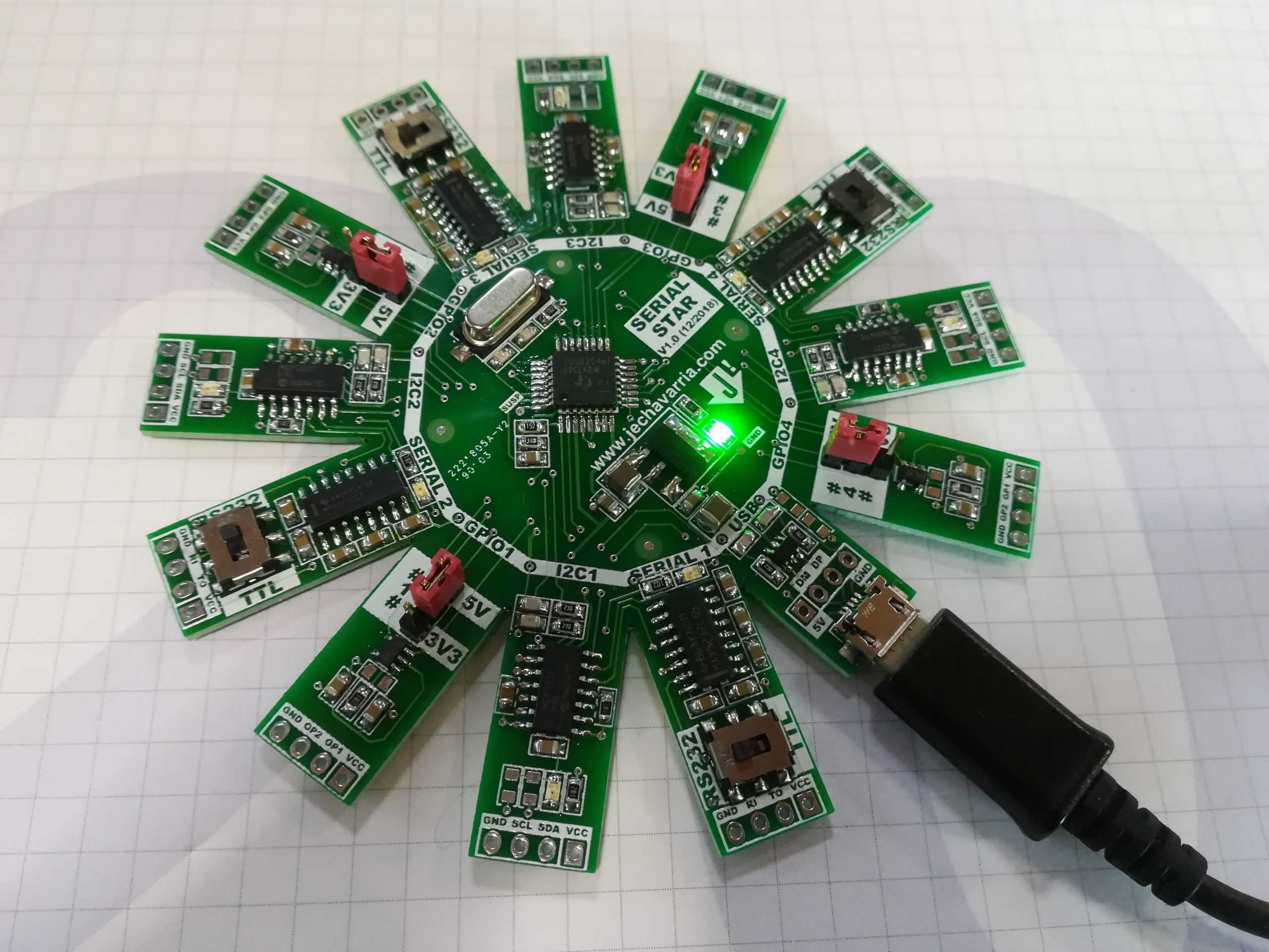 Serial Star, a 4 in 1 USB Serial and I2C Converter