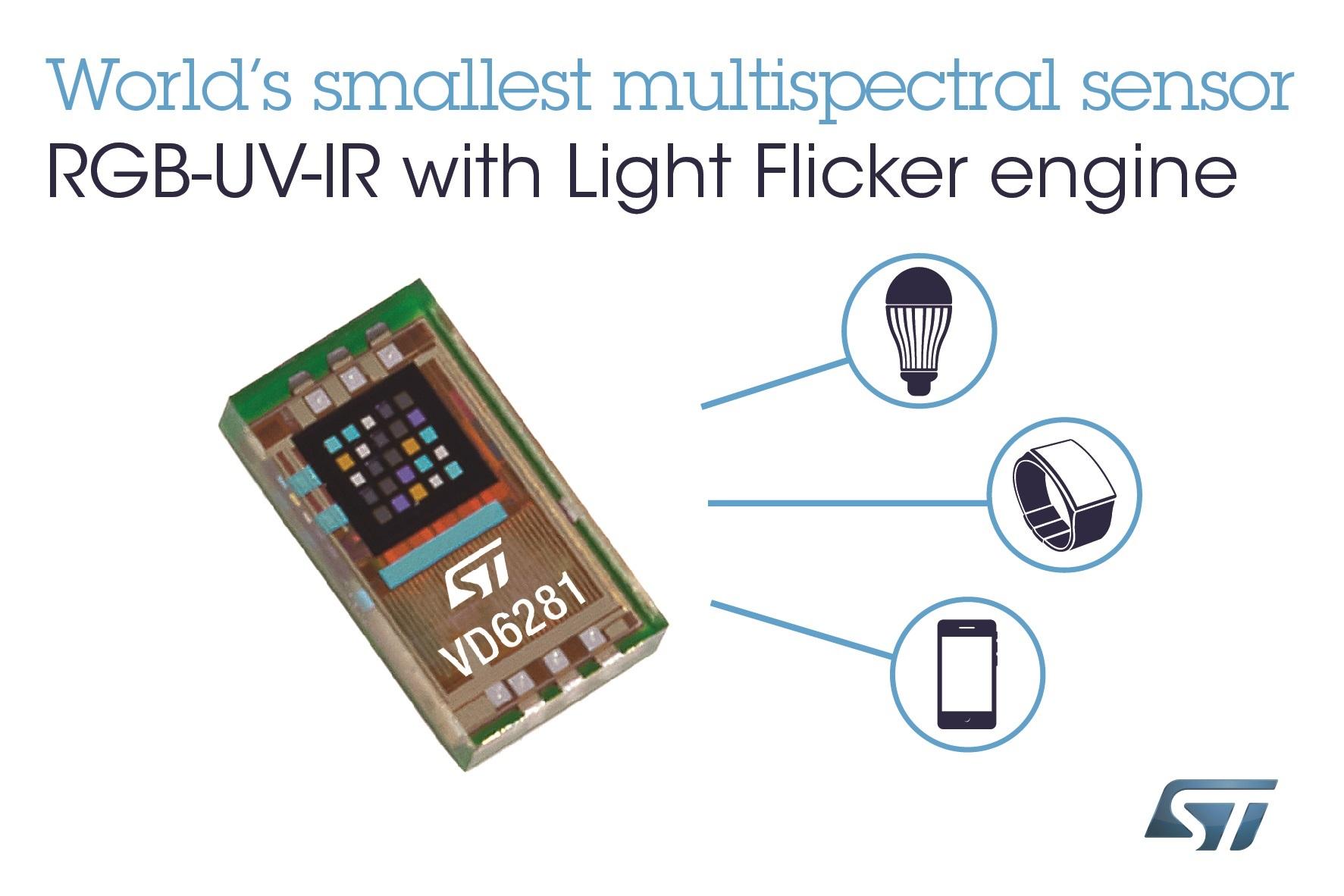 RGB UV IR light sensor is under 1x2mm