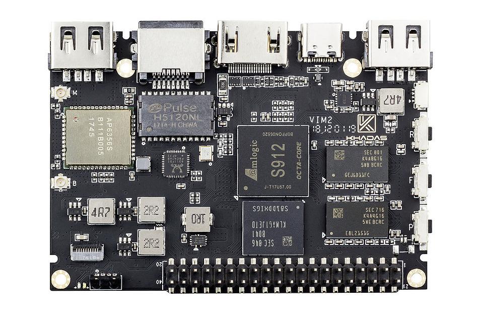 Khadas VIM2 v1.4 SBC gets an array of upgrades