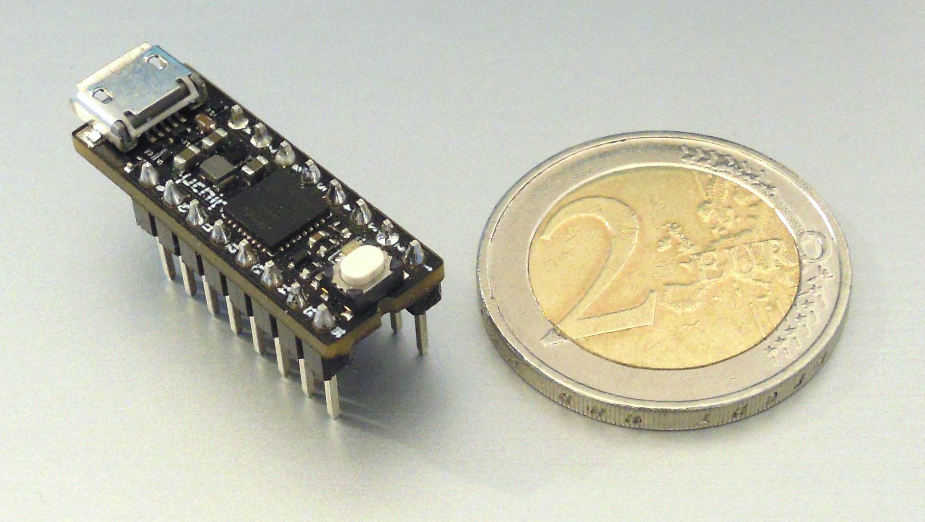 uChip: Arduino Zero compatible in a narrow DIP-16 package!