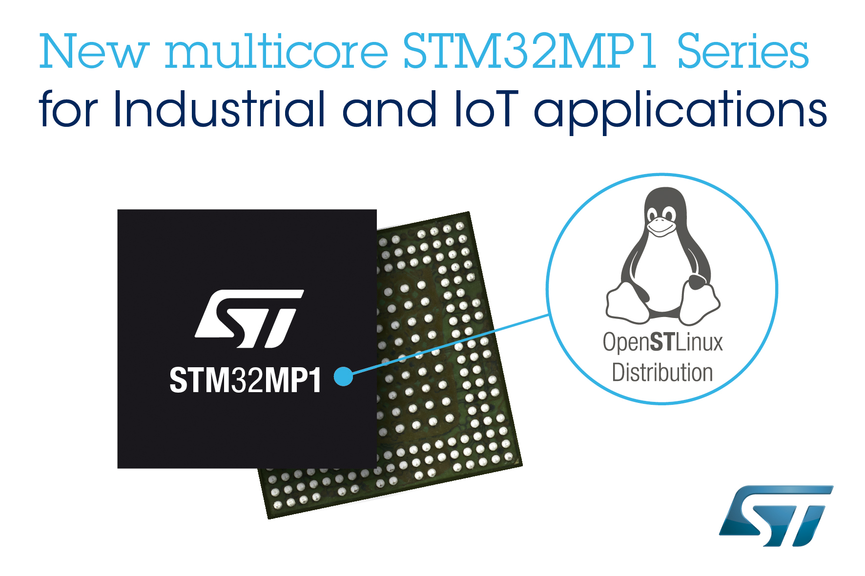 STMicroelectronics Launches STM32MP1 IoT Microprocessor Series