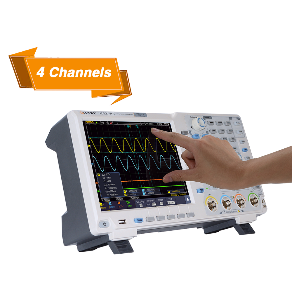 Review: OWON XDS3064E 4-channel Oscilloscope with Touch