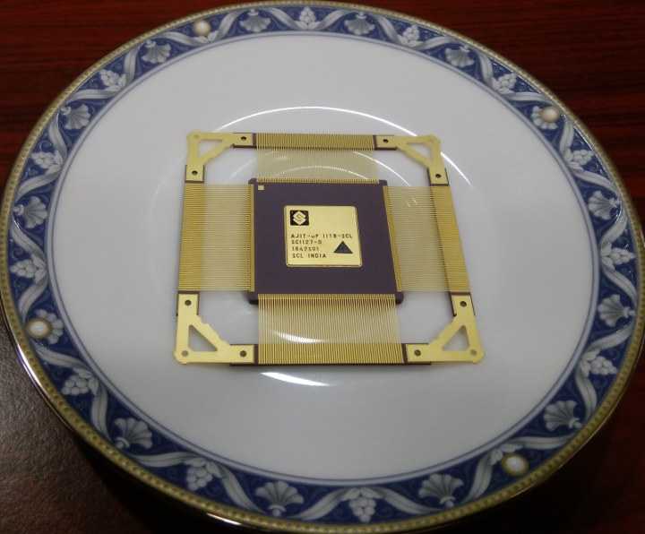 A plate full of AJIT - India's First-Ever Microprocessor