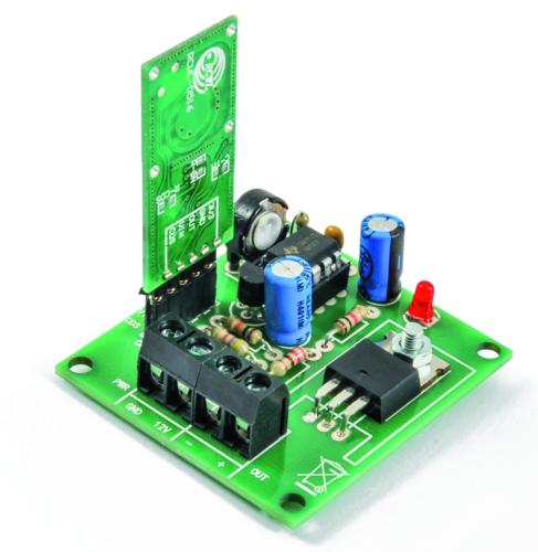 Microwave Presence detector works using Doppler Effect
