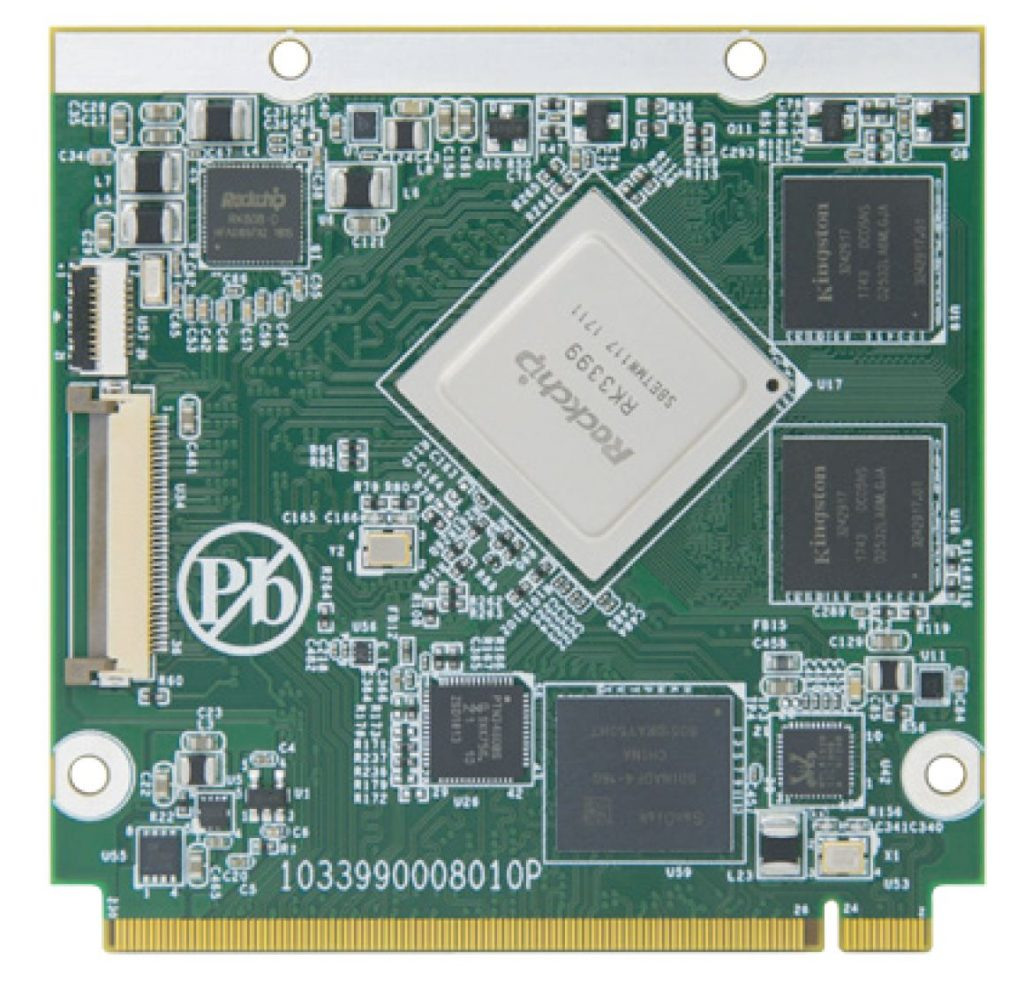 """Arbor's """"EmQ-RK390"""" Qseven module runs Linux or Android on a Rockchip RK3399"""