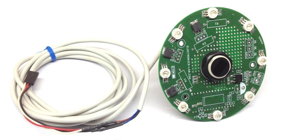 8 RGB LED Driver Shield for Arduino Nano with Optical Defuse Sensor