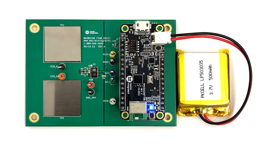 MAX86150 Integrated in-Sync PPG and ECG Biosensor Module for Mobile Devices