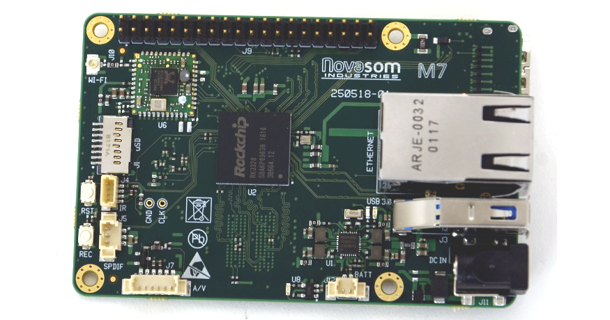 Novasom M7 SBC aims to be a Drop-In Replacement for Raspberry Pi 3