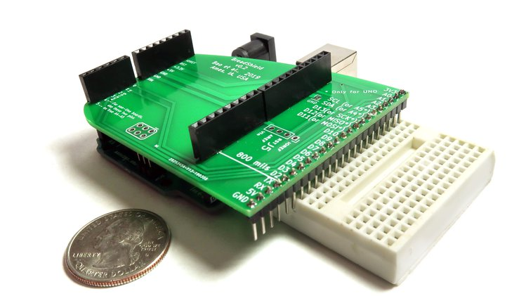 BreadShield – Bridging Arduino to breadboard with no jumper wires