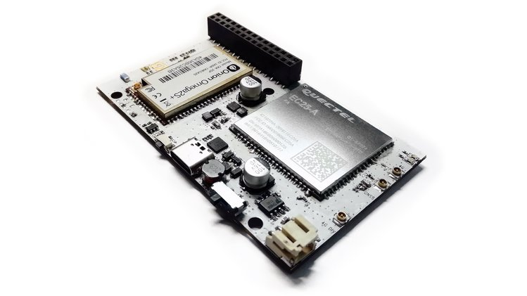 Onion Omega2 LTE – A 4G LTE and Wi-Fi connected Linux dev board with GNSS global positioning