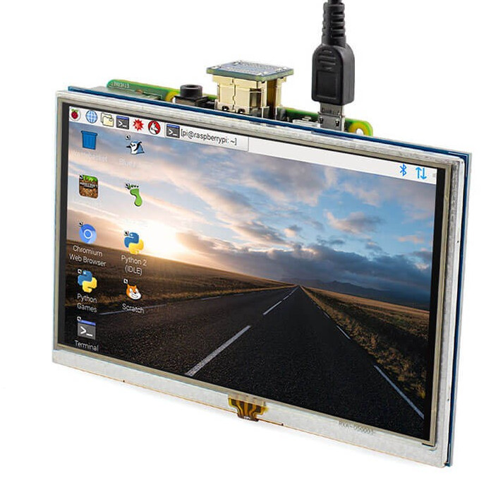 5″ 800×480 HDMI TFT Display with Backlight Control for Raspberry Pi