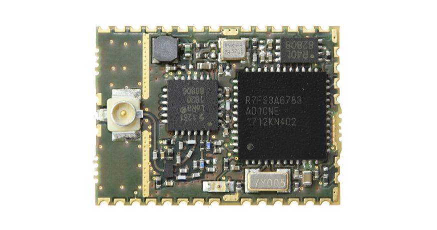 Renesas Synergy™ – FMLR-61-U-RSS3 LoRa® Module designed by Miromico