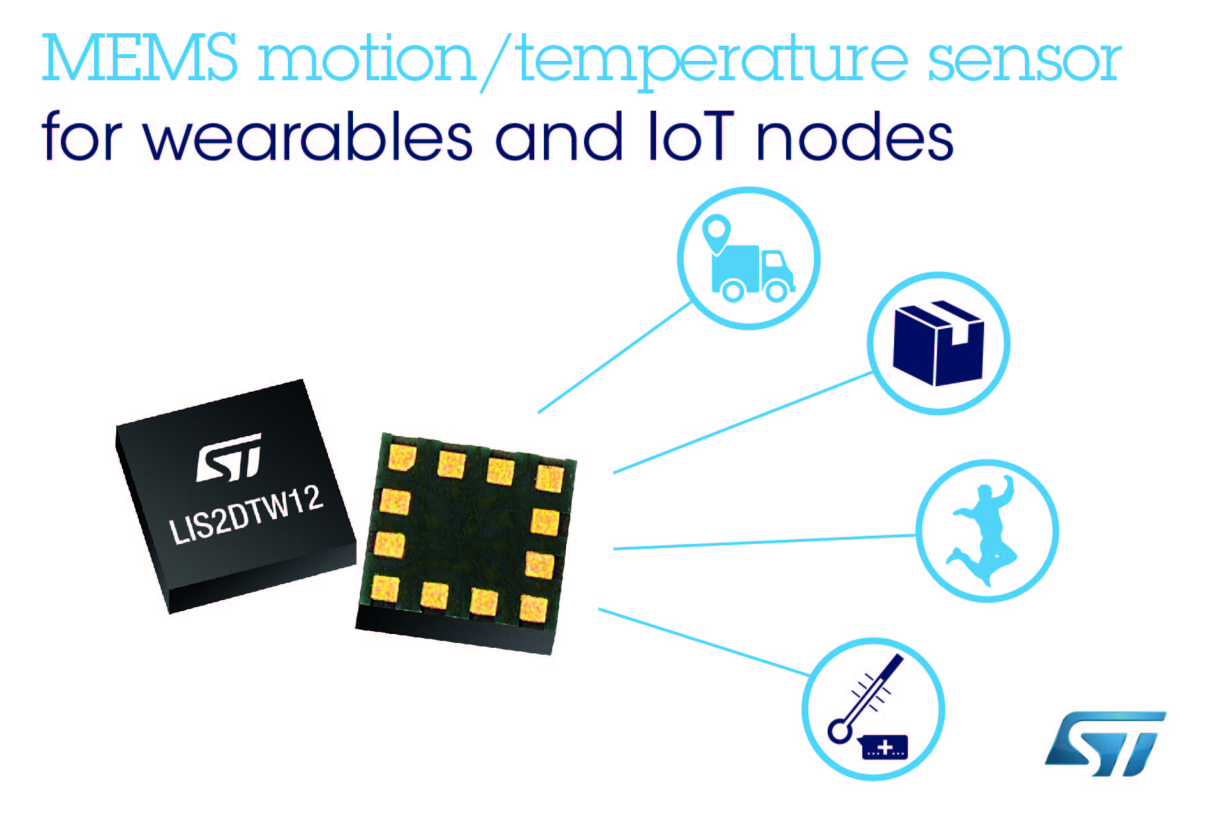 LIS2DTW12 – Temperature sensor combined with a 3-axis MEMS accelerometer