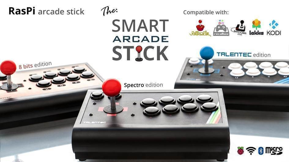 RasPi Arcade Stick – the smart arcade control by TALENTEC